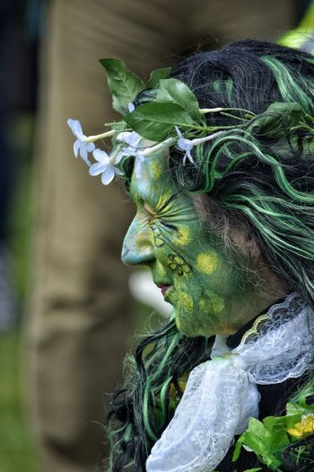 Jack In The Green Festival Jack In The Green May Day 2017 East Sussex Hastings Pagan Pagan Festival Arts Culture And Entertainment Close-up Green Color Face Paint Celebration Camouflage Clothing One Man Only Traditional Festival Tradition Carnival Green Color Nature Ivy Leaves Performance Outdoors Focus On Foreground Live For The Story Real People