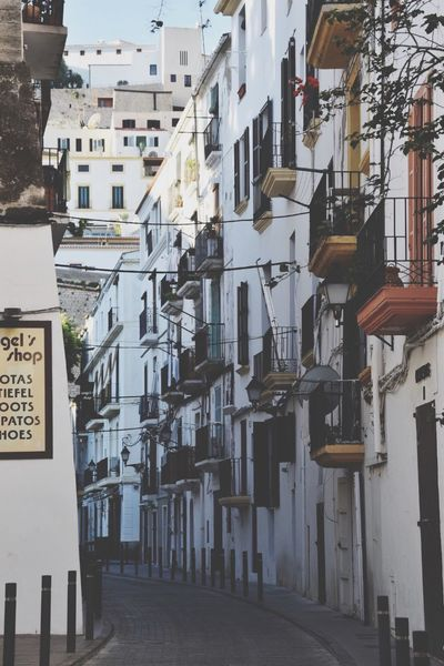 Quite streets in Ibiza Architecture Building Exterior Built Structure No People Day Outdoors City Sky