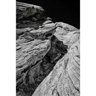 Eroded Blackandwhite Nevada Valleyoffire Landscapes latergram