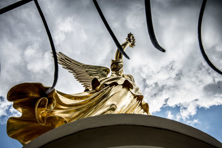 Architectural Detail Architecture Architecture_collection Berlin Cloud - Sky Cloudy Famous Place Germany Gold Gold Colored History Photographer Photography Sky Sky And Clouds Sky_collection Statue Tourism Travel Destinations Travel Photography Traveling Victory Victory Column Victory Column Berlin Victory Monument