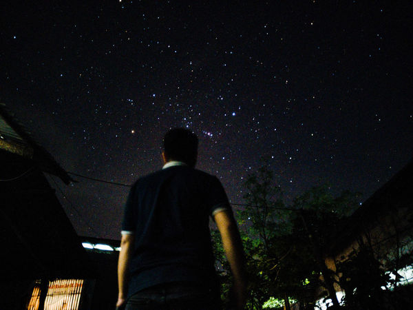 Night Star - Space Rear View Astronomy One Person Standing People Low Angle View Galaxy Constellation Illuminated Outdoors Sky Check This Out Dramatic Sky Nature Nightphotography Eyeem Philippines Perspectives On Nature EyeemPhilippines Light And Shadow Artistic Photography Darkness And Light Light In The Darkness First Eyeem Photo Be. Ready.