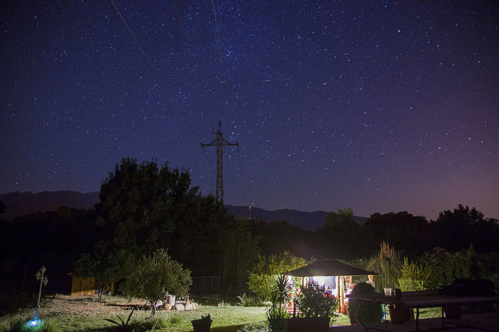 Spain♥ Summertime Astronomy Beauty In Nature Cross Galaxy Long Exposure Madrigal De La Vera Nature Night No People Outdoors Scenics Sky Star - Space Stars Tranquility Tree