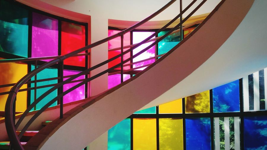 multi colored window architecture home interior indoors built structure day no people Colors Patterns Patterns & Textures Lines Patterns Everywhere