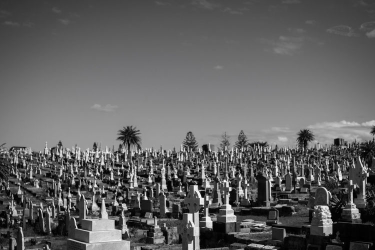 Black And White Cemetery Cemeteryscape Conformity Group Of Objects Place Of Worship Religion Spirituality