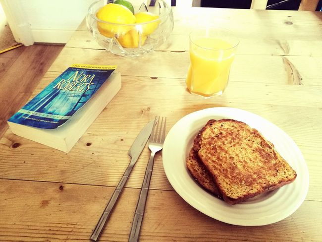 Breakfast Time Eggy Bread Orange Juice  Agoodbookisallineed Nora Roberts Book Bookworm Good Morning