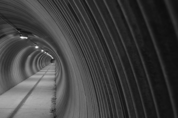 Architecture Underground Blackandwhite Day Diminishing Perspective Indoors  No People The Way Forward Tunnel EyeEmNewHere
