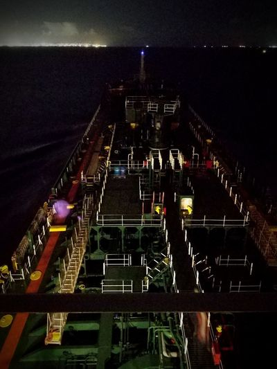 Nautical Theme Life Onboard Nightphotography Night Lights Night Stadium Outdoors People Illuminated Adults Only Star - Space