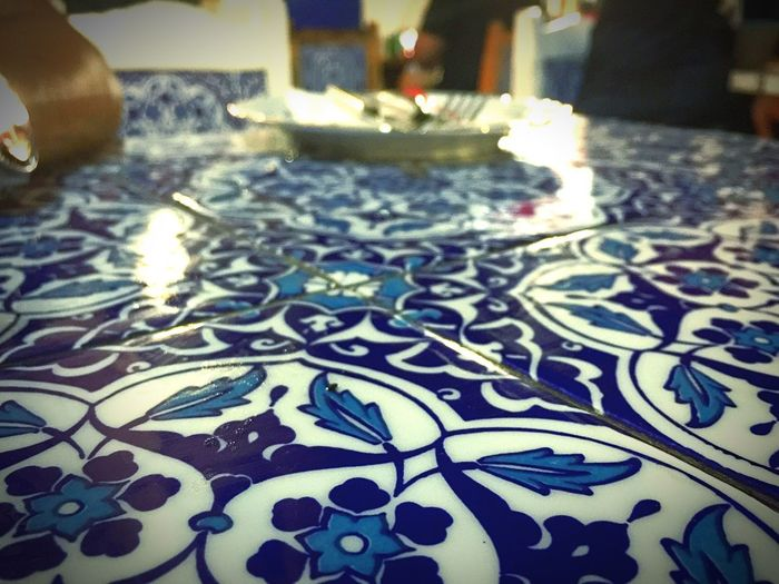 Showing Imperfection How macro can you go? Testing shots on dining tables. Arabstreet Singapore Arabic Style Tiles Tilesphotography Bluetiles Islamic Art Islamicart Islamic Architecture Mosaic