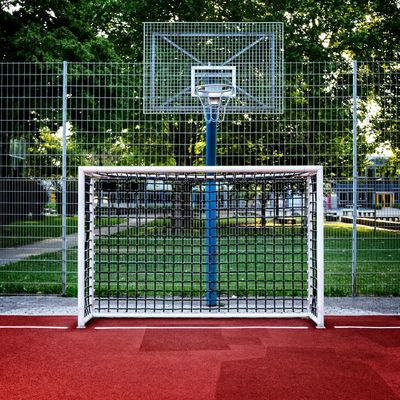 Urban Perspectives The Devil's In The Detail Street Photography Summer In The City Streetphoto_color Urban Photography No People Goal Post Sport Soccer Field Court Tree Net - Sports Equipment Competition Basketball Outdoor Play Equipment Soccer Goal Playground Schoolyard