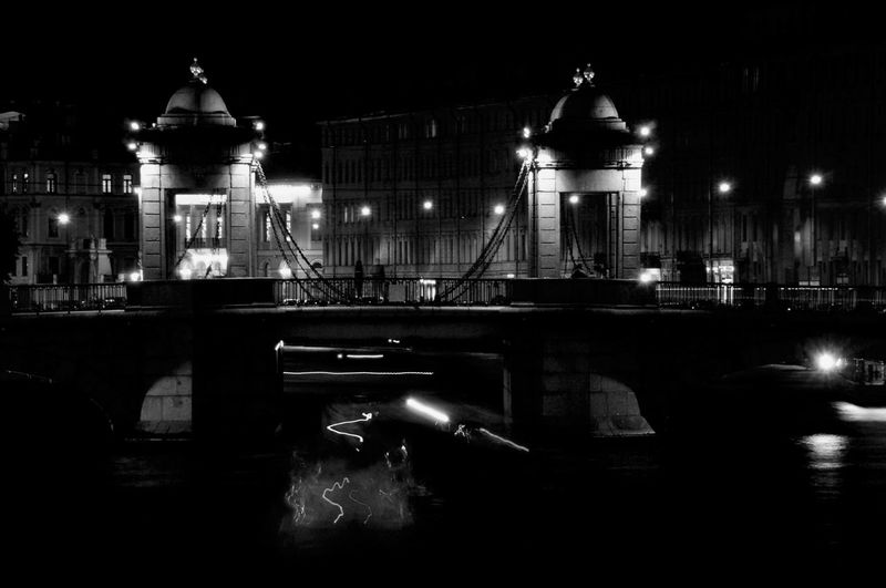 Streetphotography Street Photography Black And White Black Night Photography Night Night Lights Shadows & Lights Bridge - Man Made Structure River City Illuminated Water Cityscape Reflection Architecture Building Exterior Built Structure #urbanana: The Urban Playground