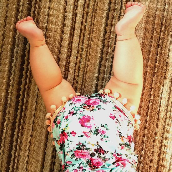 One Person Human Body Part Pink Color Barefoot Fun Human Leg Low Section Real People Only Women One Woman Only Backgrounds Day People Indoors  Carpet Baby Legs Cute Chubby Rump Bottom Behind Derriere Aria Rose Hebert