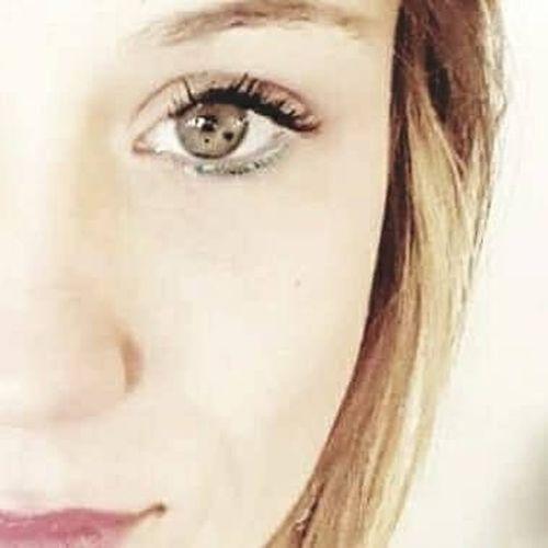 Coeur  Détails Of Body Eye Eyelash Human Face Mannequin Model Oeil One Person Portrait Studio Shot Tâche  Coeur Dans L'oeil Tâche