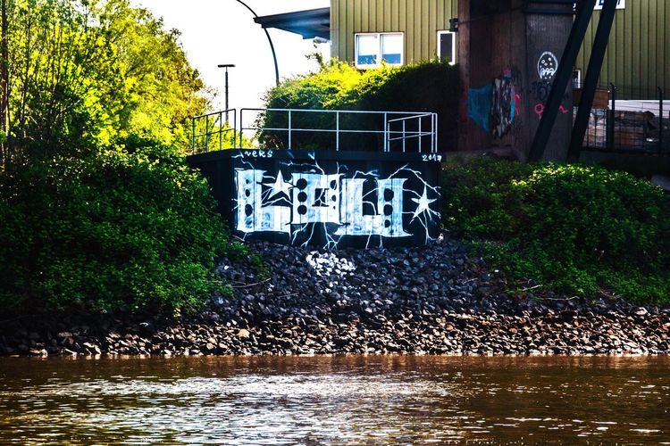Hamburg Hamburg Shiptour Graphity Summer Summerfeeling Outdoors Water Tree Bridge