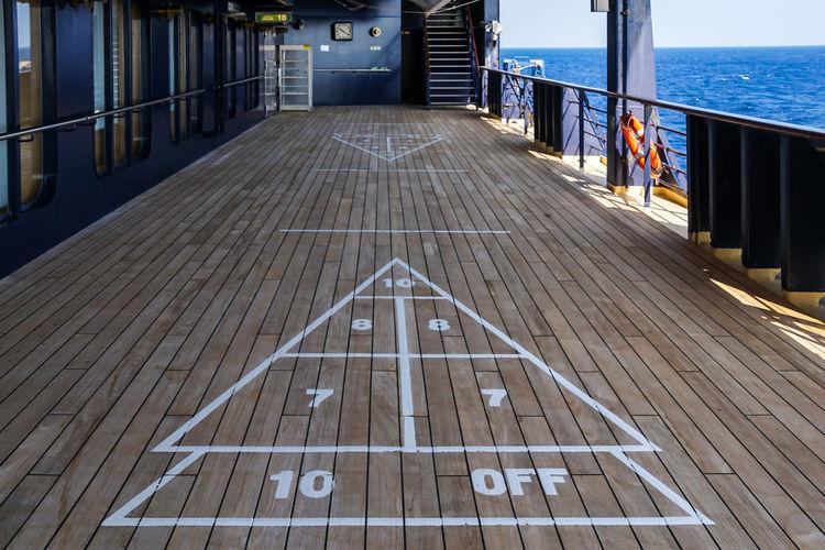Shuffleboard on cruise ship