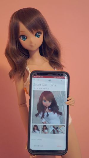 My adorable Sana arrived today!!! Awwww im so happy!!! Smart Doll Smart Doll Bjd Ball Jointed Doll Portrait Photograph Indoors  Close-up Looking At Camera Colored Background Samsung Samsung Galaxy S8+ Female Likeness Technology Child Girls People Adult Futuristic One Person Females Computer Childhood Representing