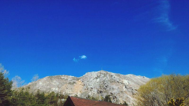 Mavigökyüzü Blue Sky Dağ Mountain Agaclar Trees Sivas
