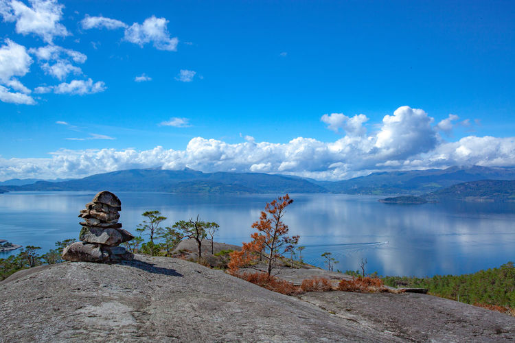Water Sky Scenics - Nature Tranquil Scene Cloud - Sky Tranquility Beauty In Nature Non-urban Scene Rock Blue Day Nature Solid Rock - Object Idyllic Sea No People Mountain Outdoors Pure Nature Landscape Uphill Over The Top EyeEmNewHere