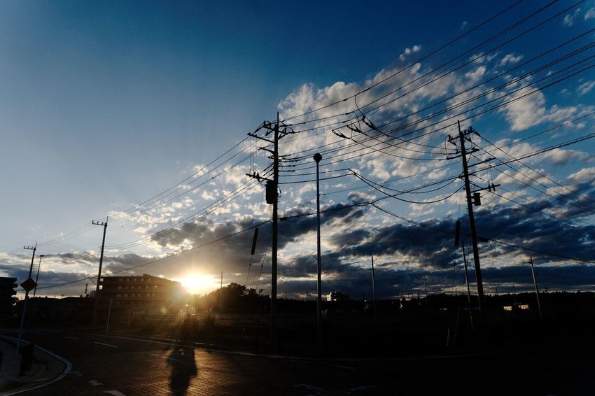 Sky Electricity  Electricity Pylon Cable Technology Cloud - Sky Sunset