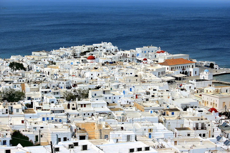 Aerial View Of Mykonos By Sea