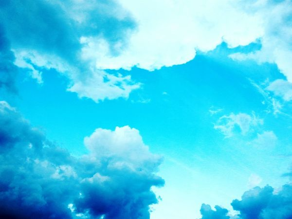 Blue Sky Nature Backgrounds Fluffy Dramatic Sky Weather Cloudscape Beauty In Nature Environment Scenics