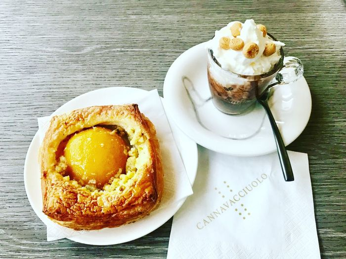 Breakfast Italy Coffee Pistachios Cakes Coffee Food Michelin Star Michelin Breakfast Food And Drink Food Ready-to-eat Freshness Sweet Food Plate Dessert Still Life Table Drink Cake Cup
