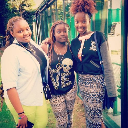 When you decide it's girls day out... Lookingsexy Holdyourboysback Robthestreets Stealhisheart I heart you guys @thee_faith_njeri @x_nancie_x