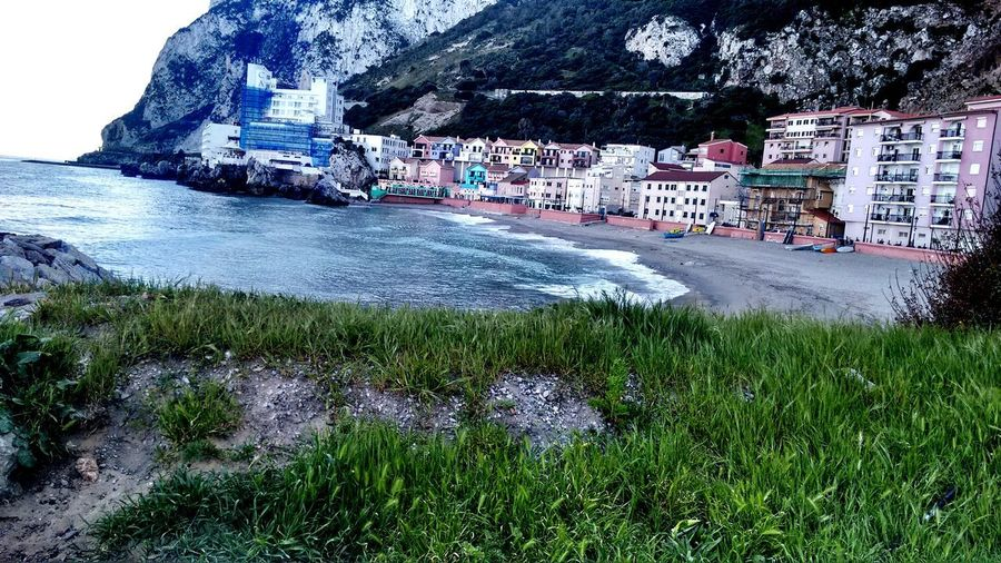Caleta Gibraltar Water Sea Mountain Coast Beach Sand Calm