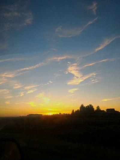 рассвет Sunset Landscape Tranquil Scene Scenics Silhouette Tranquility Sky Beauty In Nature Nature Field Orange Color Dark Cloud - Sky Sun Cloud Remote Outdoors Calm Outline Non-urban Scene