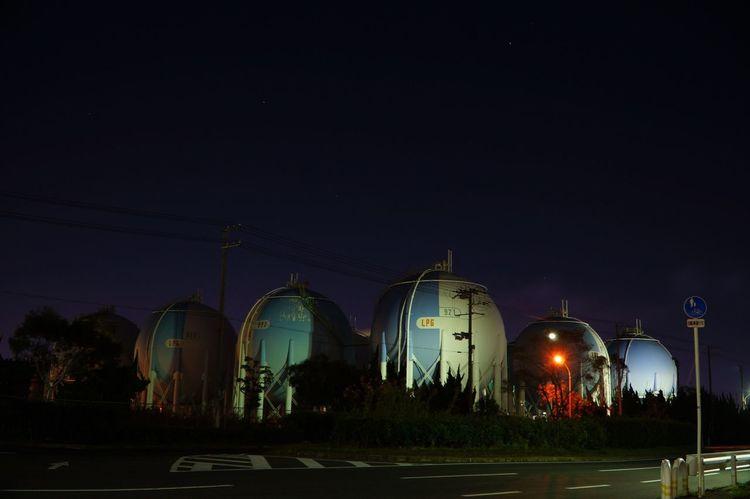 ガスタンク 工場 Architecture