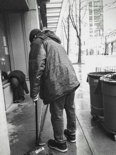 EyeEmNewHere One Person Homelessness  Addiction CompassionCreatesUnderstanding Warm Clothing Hungry Investing In Quality Of Life Connected By Travel Rethink Things Black And White Friday Be. Ready. The Graphic City Modern Workplace Culture