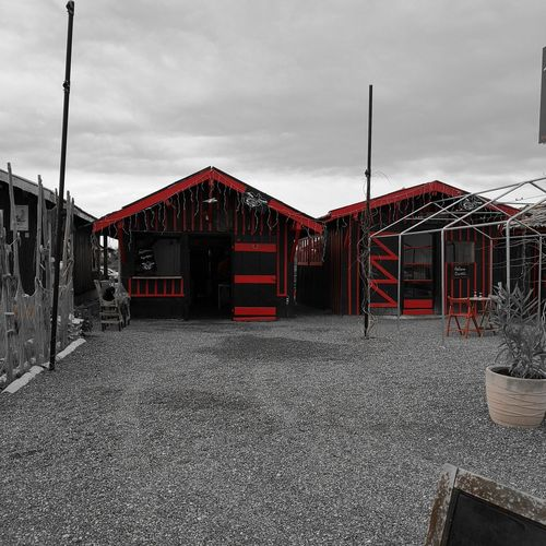 Cabane Huitres Arcachon Business Finance And Industry Red No People Day Outdoors Architecture Sky