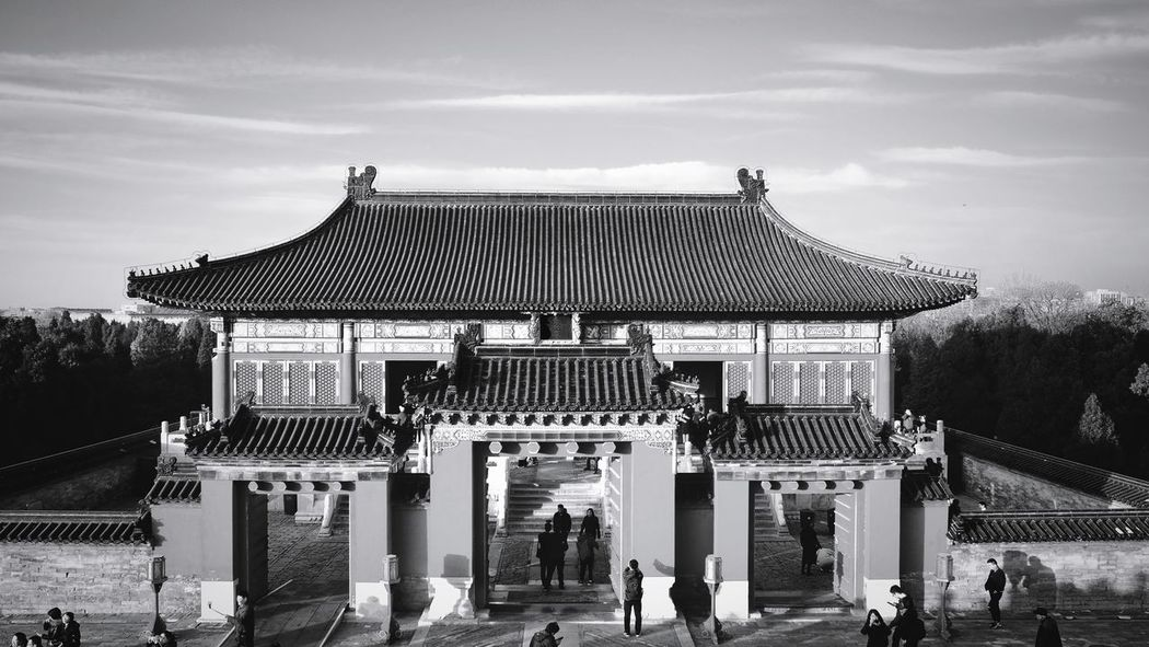 Travel Destinations History Tourism Ancient Architecture Old-fashioned Built Structure Real People People Outdoors Sky Building Exterior Day Adult Temple Of Heaven Park Beijing, China FUJIFILM X-T10 Light And Shadow Ancient Travel Medium Group Of People Sunlight Old Buildings Leisure Activity Black And White