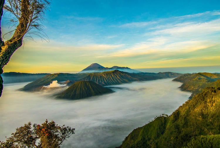 Bromo mountain view from kingkong hill