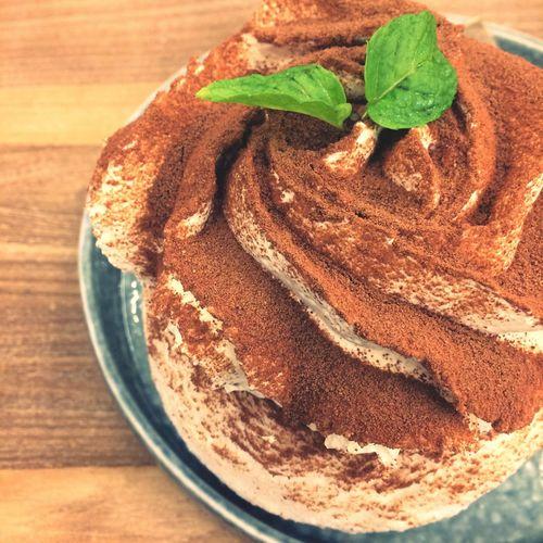 Choccolate bingsu Chocolate Bingsu Bingsu Chocolate Leaf Freshness Table Indulgence Sweet Sweet Food