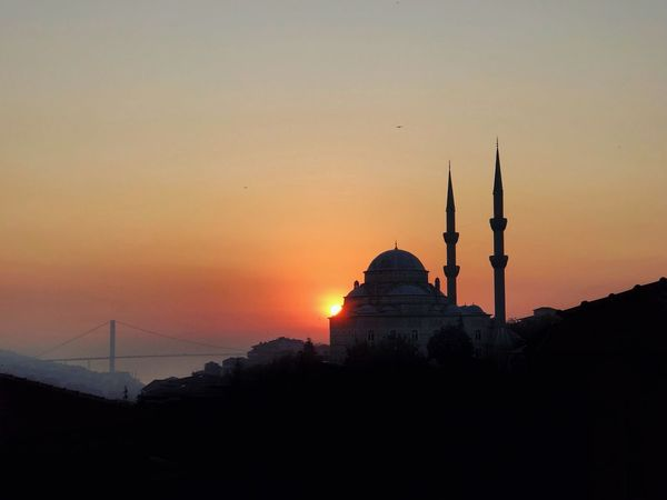 Sunset Architecture Built Structure Travel Destinations Tourism Building Exterior Sky Travel Silhouette Religion Outdoors No People Place Of Worship Nature City
