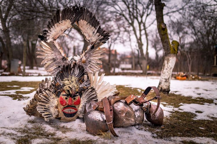 Instagram: pandevonium_images Outdoors Trditional Ritual Nopeople Mask Cold Temperature Winter No People Day Kukeri, Bulgaria Survakar Sigma 35mm Art DSLR DSLR Photography Rituals & Cultural Photography Travel