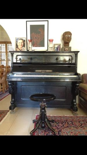 Our Old Piano. Its Twinn Brother Is In Daß Deutsche Museum In München. A Carl Otto Berlin From The 19th. Century.