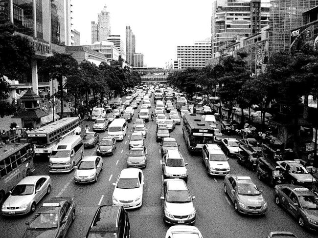 Busy Street Bangkok,Thailand Randomshot Taking Photos Black & White Landscape_photography City Views Travel Photography On The Way Traffic Traffic Jam Monochrome Photography Miles Away Traveling Holiday Travel Travel Destinations Welcome To Black Mobility In Mega Cities