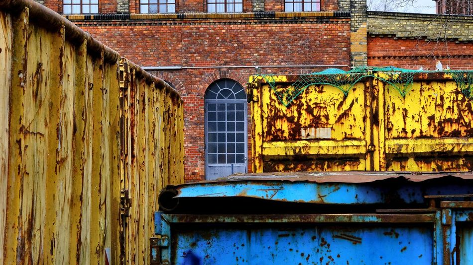 Berlin Photography Container Abandoned Architecture Bad Condition Brickstones Building Exterior Built Structure Close-up Corrugated Iron Damaged Day Eiswerder Factory Building No People Obsolete Outdoors Run-down Rusty Travel Destinations Weathered Window Wood - Material