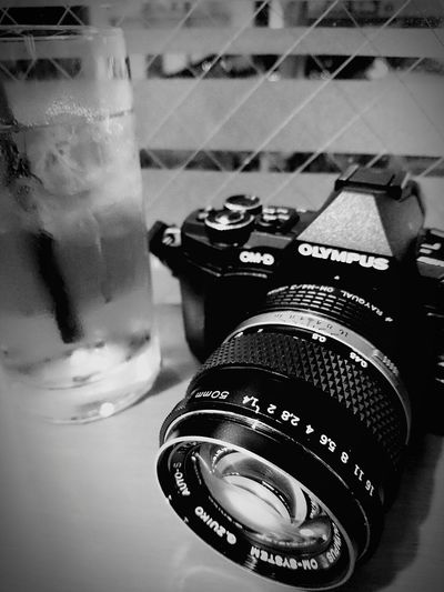 No People Drinking Glass Table Close-up Drink Indoors  Day Camera - Photographic Equipment Camera Camera Life Is My Life! Blackandwhitephoto Blackandwhite Photography Themes Blackandwhite Photography Black And White Collection  Monochrome World Blackandwhitephotos Food And Drink Caffee & Coffee Shop Blackandwhitepics City Cityscape