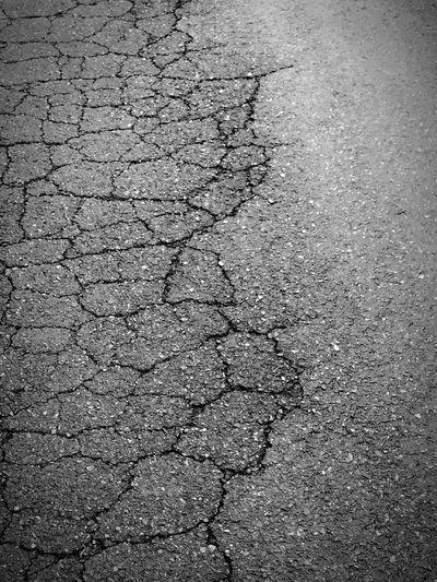 cracks B&w Rainy Day