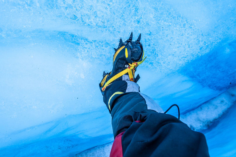 Adventure Balance Blue Ice Capture The Moment Cold Temperature Crampons Day Fun Glacier Ice Leisure Activity Lifestyles Men Northern Norway Norway Recreational Pursuit Relaxation RISK Warm Clothing Winter
