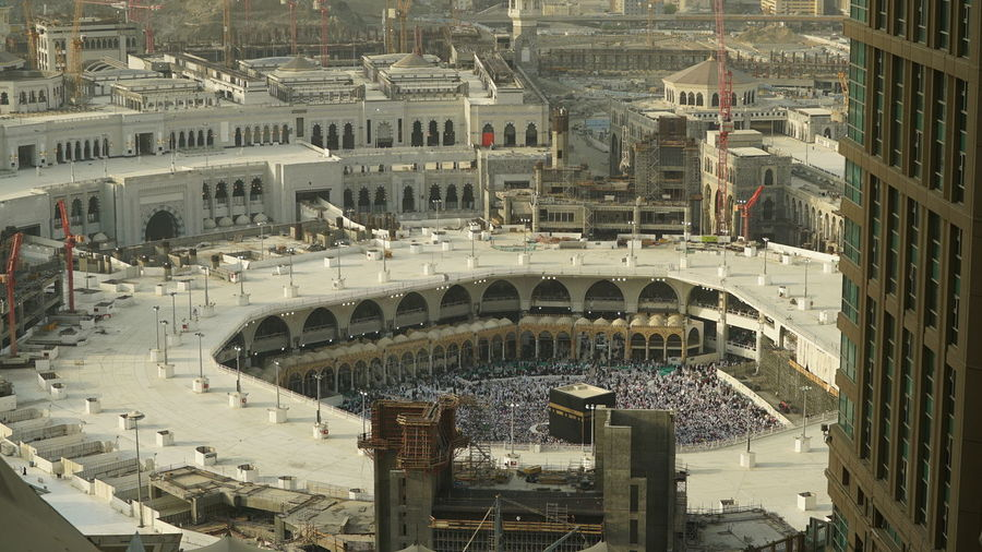 Ka'bah Mecca Mecca Al-mukarramah Mecca Saudi Arabia Makkah Saudi Arabia Development Mosque Cityscape Building Exterior High Angle View City Architecture Outdoors