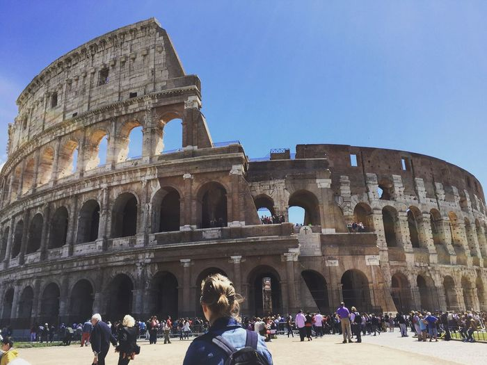 Colosseo Rome Italy Ancient Civilization Ancient Ancient Architecture Architecture Old Masterpiece Built Structure City City Life Modern People People Watching Tourism Mustsee