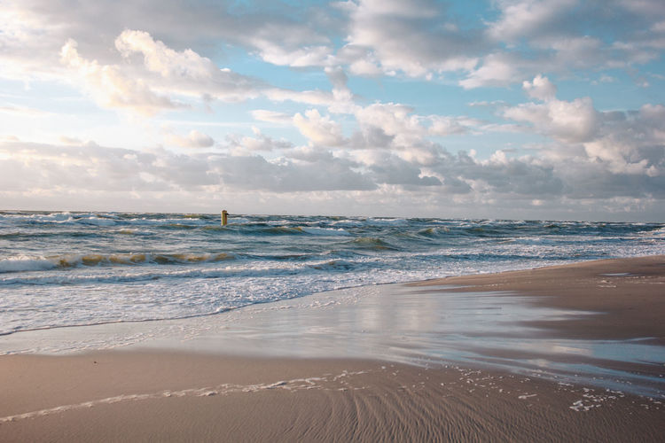 Curonian Spit Lietuva Lithuania Aquatic Sport Beach Beauty In Nature Cloud - Sky Golden Hour Horizon Horizon Over Water Land Motion Nature Outdoors Sand Scenics - Nature Sea Sky Sport Sunsets Surfing Tranquil Scene Tranquility Water Wave