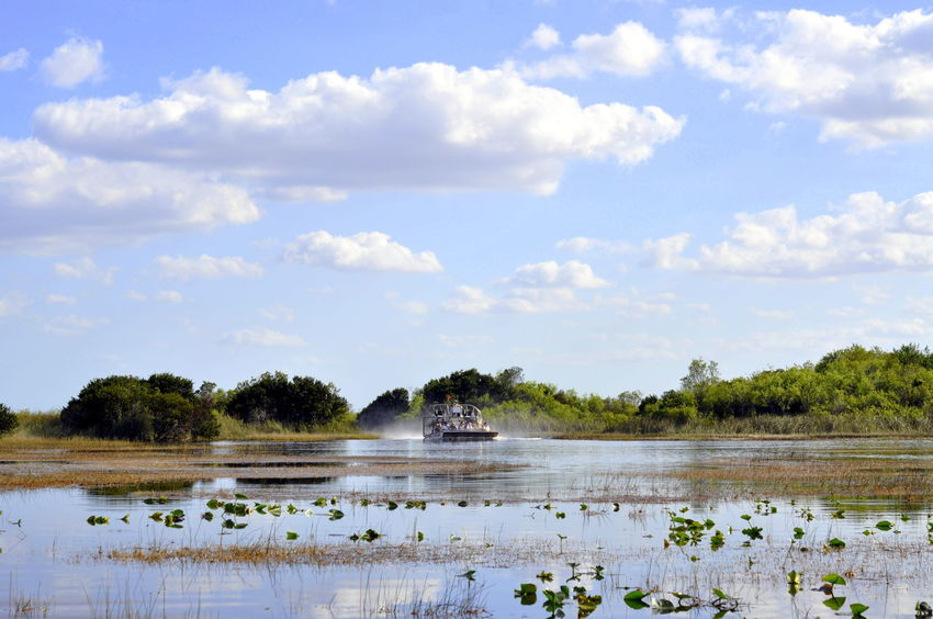 Airboat Cloud - Sky Everglades  Miami Nature Outdoors Reflection Sky Water The Great Outdoors - 2018 EyeEm Awards