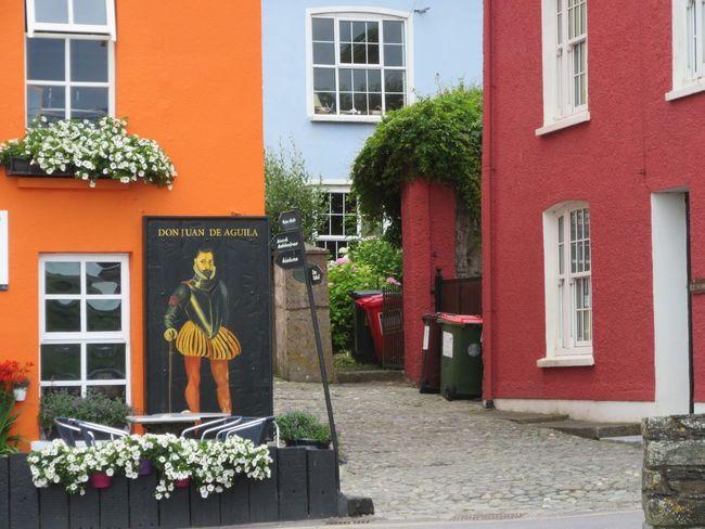 Colourful Summercove Colourful Houses Pub 18th Century Historical Place Flowers Window Box Flowers Cobblestones Wheelie Bins Summercove Kinsale West Cork Wildatlanticway Ireland