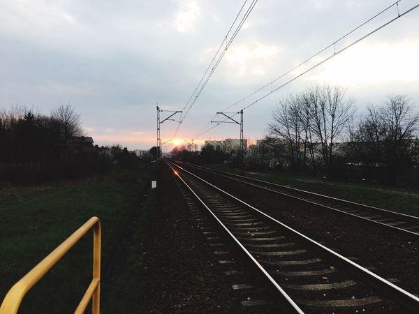 Sun Wieczor Zachod Słońce