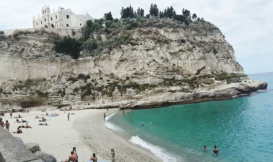Beach Sea Tranquility Landscape Architecture Autumn Promontorio Santuario Santa Maria Tropea Calabria