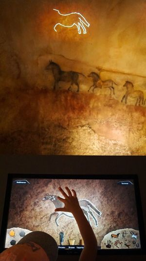 Peinture Rupestre Cave Painting Fatherhood Moments Modernism A Bird's Eye View Mural Cave France 🇫🇷 France Miniature Child Painting High Angle View Horse TakeoverContrast